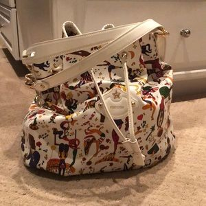 Magic Circus large white drawstring bucket bag.
